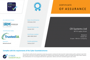 Cyber Essential Plus Certification